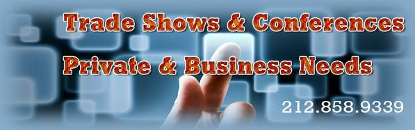 Trade show displays New York, conference room AV equipment, consumer AV rentals, any corporate AV from AV NYC.