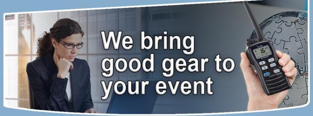 Presentation services AV - rent walkie talkies from AV Rentals NYC